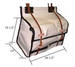 Pro Leather End Canvas Pack Panniers - Standard & Oversize