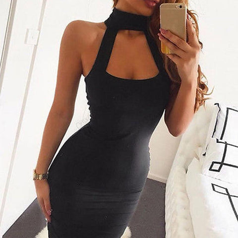 Pitch Black Dress