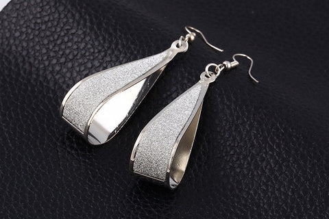 Frosted Drop Earrings