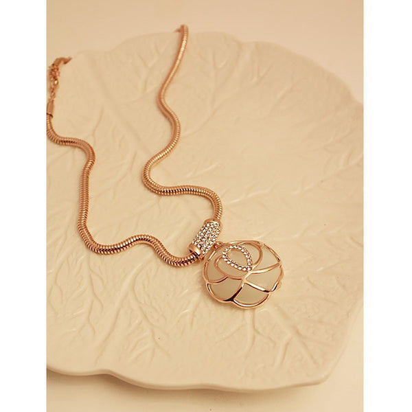 Moonstone Rose Necklace