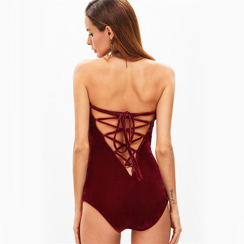 Formation Velvet Bodysuit