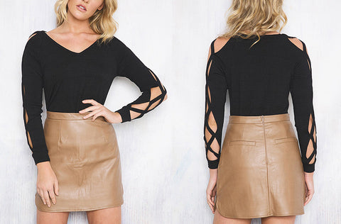 Lit Leather Skirt