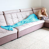 Mermaid Hand Knitted Blanket