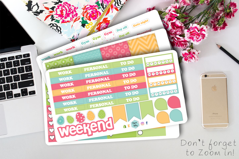 Easter weekly planner sticker kit