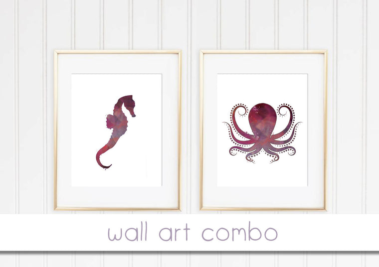 Octopus and seahorse bundle