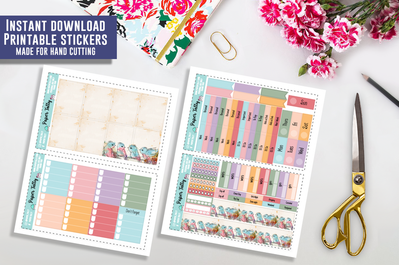 Sing Song - Downloadable planner sticker kit