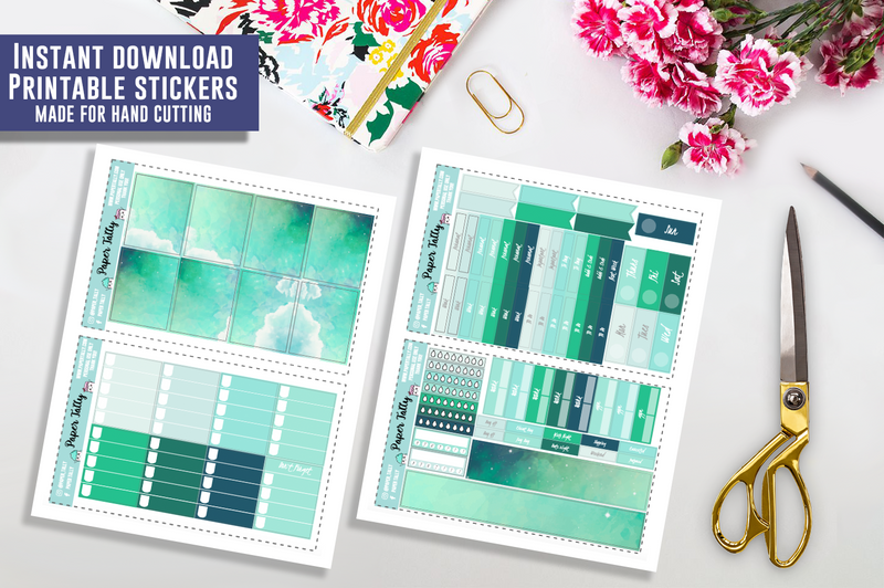 Dreaming of Aurora - Downloadable planner sticker kit