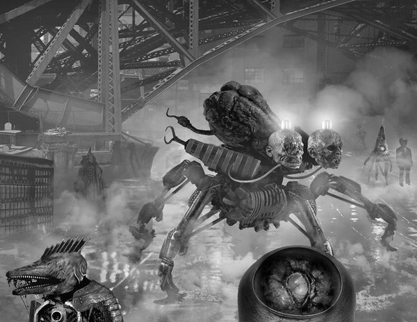 Full dust jacket art by Aeron Alfrey for Transmissions from Punktown revealed