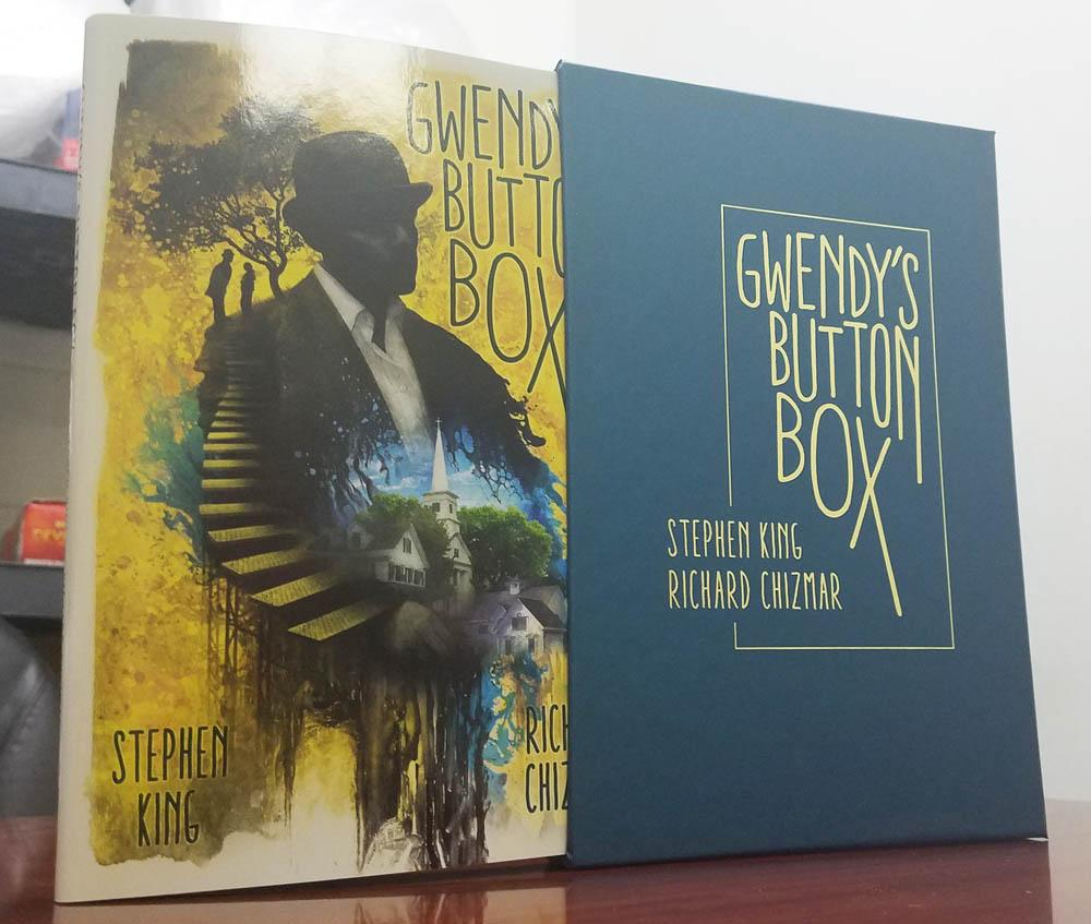 Gwendys Button Box Stephen King First Edition Trade Hardcover In Slipcase Signed By Richard Chizmar