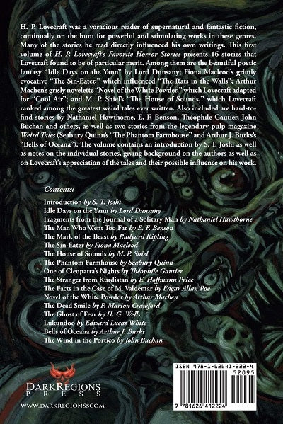 Horror summer sale page 2 dark regions press the ghost of fear and others h p lovecrafts favorite horror stories volume 1 edited by fandeluxe Images