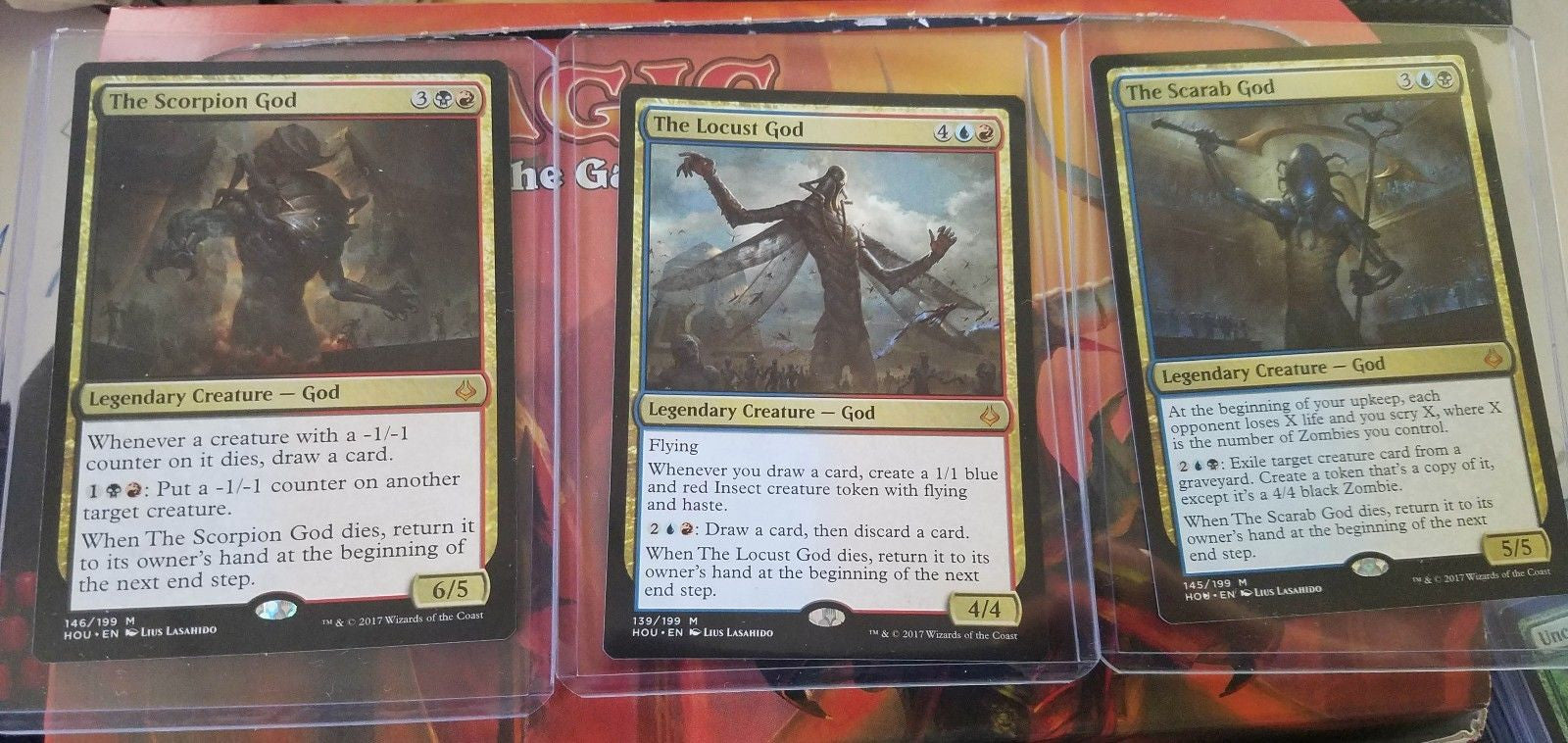 Mythic RARE NEW!! MTG Hour of Devastation The Locust God