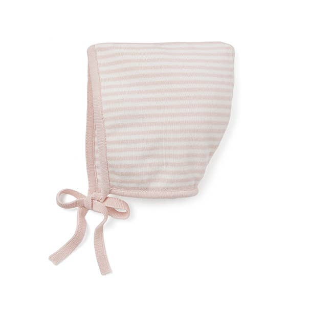 Pink Mini Stripe Bonnet