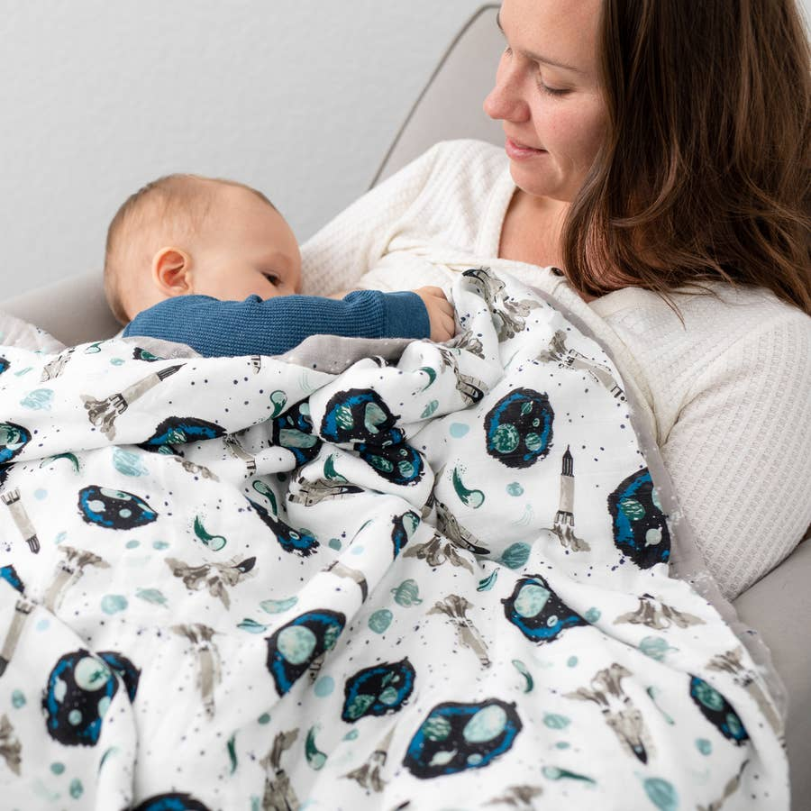 Space & Galaxy Oh-So-Soft Luxury Muslin Snuggle Blanket
