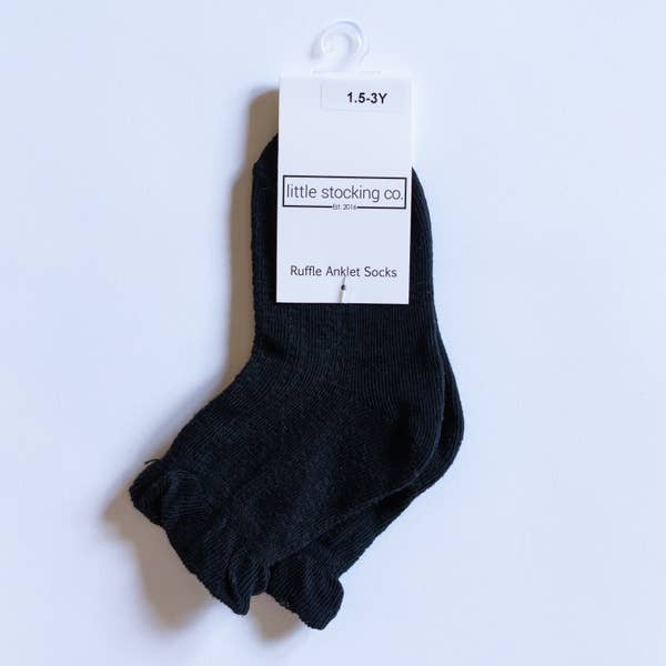 Black Anklet Socks