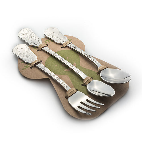 3-Piece Baby Flatware Set- Arctic Friends