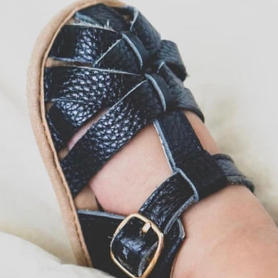 Black Closed Toe Sandal