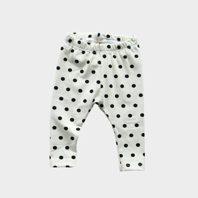 Basic Leggings - Black Dots