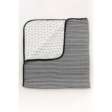 Black and White Strip Reversible Quilt