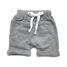 Washed Harem Shorts - Grey