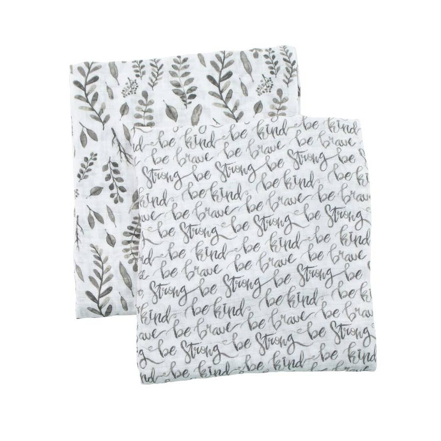 Just Be & Leaves Classic Muslin Swaddle Blanket Set
