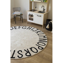 Lorena Canals Round ABC Natural - Black Rug