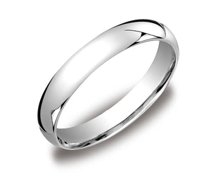 4MM Men's Women's Solid 10K White Gold Plain Wedding Band Comfort Fit