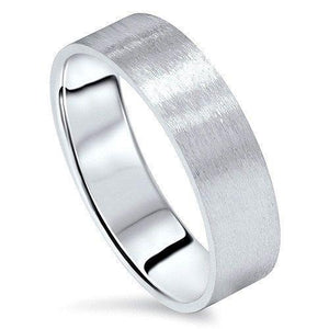 7MM Men's Women's Solid 14K White Gold Satin/Brushed Wedding Band SIZES 5-13