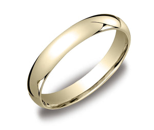 4MM Men's Women's Solid 10K Yellow Gold Plain Wedding Band Comfort Fit