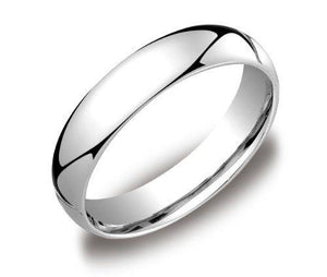 5MM SOLID PLATINUM 950 PLAIN COMFORT FIT WEDDING BAND RING MEN'S WOMEN'S SIZES 4.5-12.5