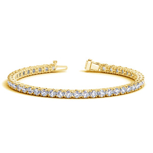 14K Yellow Gold Round Diamond Tennis Bracelet (10 ct. tw.)