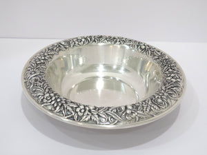 10 in - Sterling Silver S. Kirk & Son Antique Floral Repousse Serving Bowl