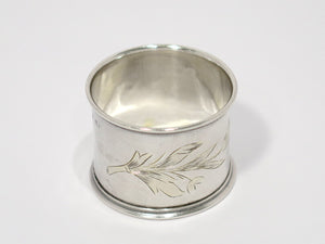 Copy of 1 5/8 in - 84 Silver Antique Russian Floral Napkin Ring