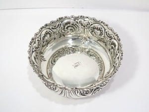 9 in - Sterling Silver Whiting Antique Floral 4-pint Serving Bowl