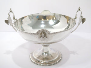 "11.25"" Sterling Silver Browne Spaulding Antique c 1871 Fly Butterfly Footed Bowl"