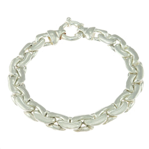 7 in - 925 Sterling Silver Made in Italy Fancy Tennis Bracelet