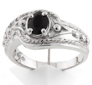 925 Sterling Silver Sapphire Ring