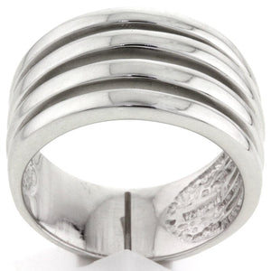 925 Sterling Silver Four Open Row Wide Ring by Tocara
