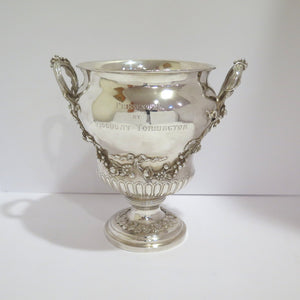 10.5 in Sterling Silver Antique English 1813 Georgian Style Wine Cooler / Trophy