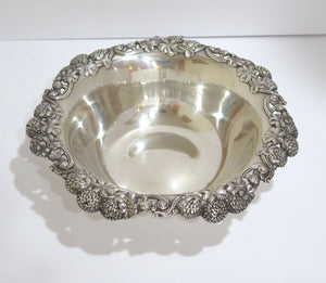 9.75 in - Sterling Silver Tiffany & Co. Antique Clover Design Bowl