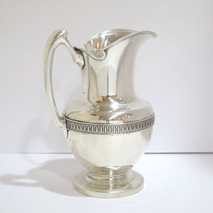 9 in - Sterling Silver Antique 1875 Water Pitcher
