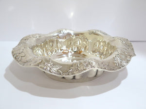 11.5 in - Sterling Silver Tiffany & Co. Antique Floral Bowl / Centerpiece