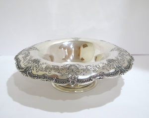 12.5 in - Sterling Silver Antique Floral Pattern Serving Bowl / Centerpiece