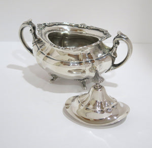 5 piece Sterling Silver Reed & Barton Antique Hampton Court Tea & Coffee Set