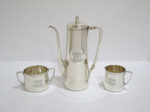 3 piece - 8.5 in - Sterling Silver Tiffany & Co. Antique Small Tea / Coffee Set
