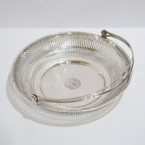 12.5 in - Sterling Silver Wallace Antique Openwork Round Basket