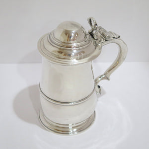 8.25 in - Sterling Silver Humphrey Payne London Antique 1742 Beer Tankard