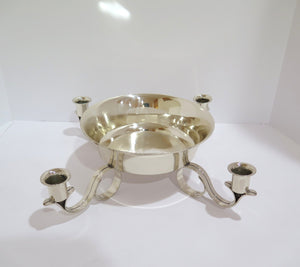 15 5/8 in - Sterling Silver Tiffany & Co. Antique Bowl w/ 4 Candle Holders