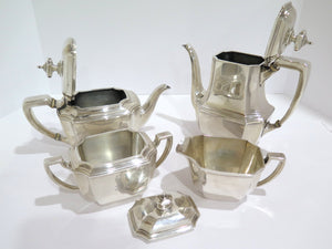4 piece - Sterling Silver Tiffany & Co. Antique Rectangular Tea/Coffee Set