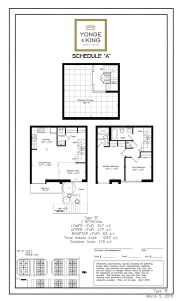 201 King Road: 2 Bedrooms - Type B, Unit 231