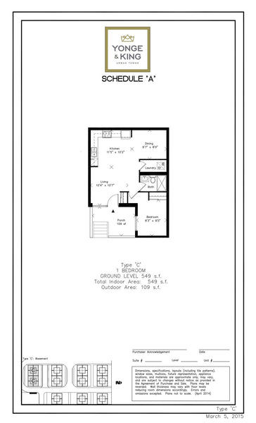 201 King Road: 1 Bedroom - Type C, Unit 115